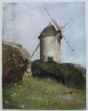 "Reproduction du tableau de Redon Odilon ""Moulin en Bretagne"""