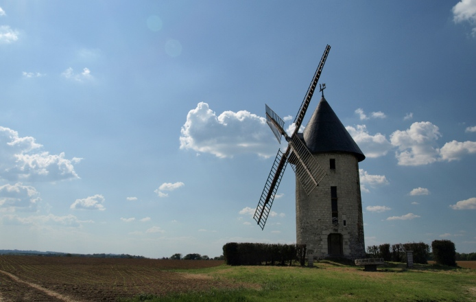 le moulin en bordure de la N2
