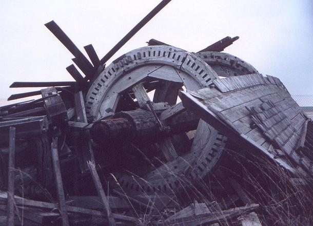 Moulin de Valmy après la tempête du 26/12/99
